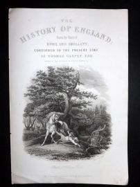 Gaspey C1860 Print. Death of William Rufus. History of England Title Page